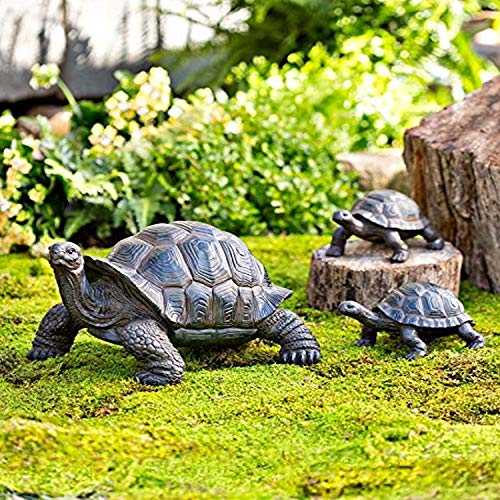 Plow & Hearth Tortoise Family Resin Garden Accent Statues