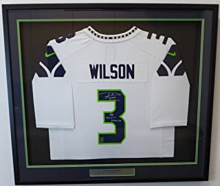 Seattle Seahawks Russell Wilson Autographed Framed White Nike Jersey