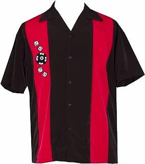 Men's Short-Sleeve Gambling Poker Shirt - Dice Shirt ~ Big Money ~ Bowling Shirt ~ Casino T-Shirt