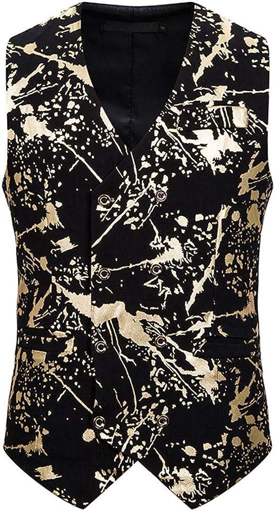 MODOQO Men's Waistcoat Casual Single Brested Vest Suit for Party Dance
