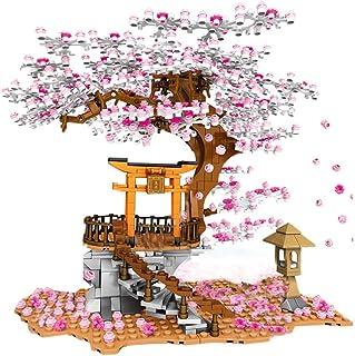 Tree House Model Kit Cherry Blossom Sakura Tree House Building Blocks Toy for Kids