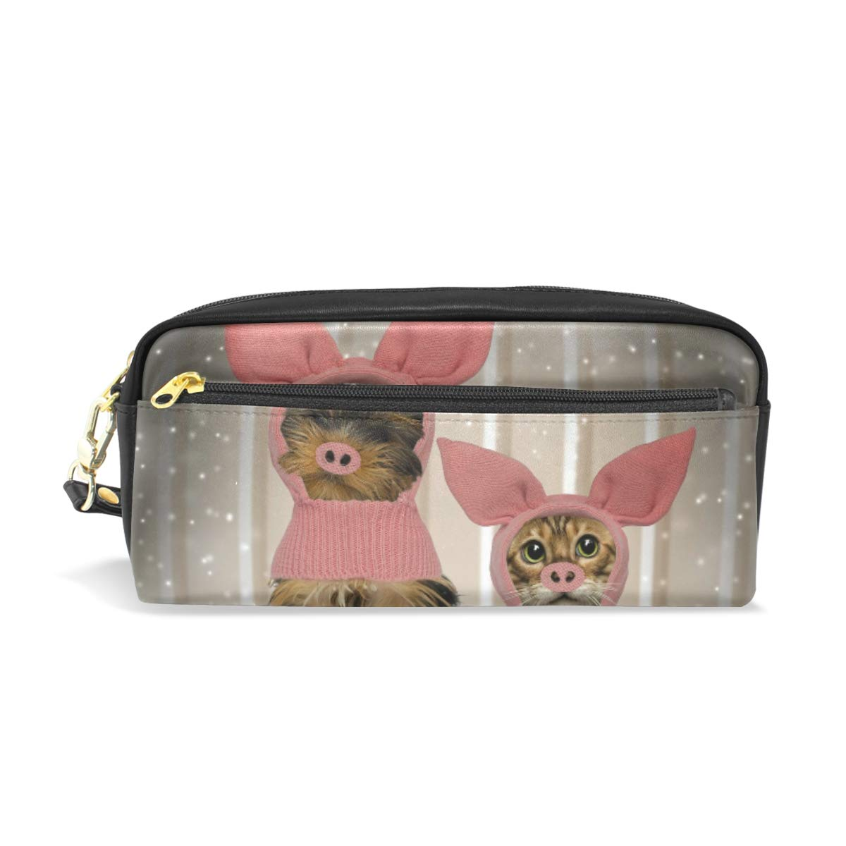 Estuche para lápices de gran capacidad, bolsa para bolígrafos, cartera para disfraz, disfraz de cachorro, gatito, cerdo, impermeable, bolsa de maquillaje para estudiantes o mujeres: Amazon.es: Oficina y papelería