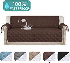 100% Waterproof Sofa Protector for Leather Sofa Cover Brown Non-Slip Couch Covers for Dogs Pet Furniture Covers Machine Washable Protect from Pets Wear and Tear (Sofa, 75