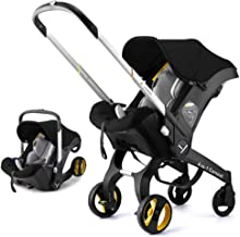 2019 New 4 in 1 Baby car seat and Stroller with Basket Set Multifunction Baby Stroller Baby Stroller 4 in 1& 3 in 1 Newborn Bassinet Cradle Type Baby Carriage Basket Baby Car Travel System (Black)