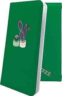 X02HT ケース 手帳型 サボテン 緑 花 花柄 フラワー エックスエイチティー 手帳型ケース 植物 砂漠 果肉植物 x01 ht ロゴ ロゴ入り ワンポイント