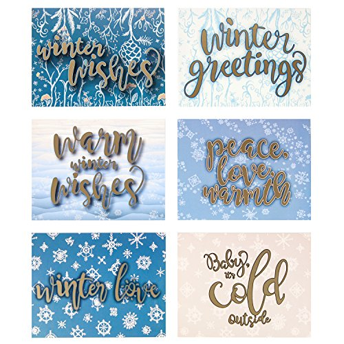 Greeting Cards w/Envelopes (30 ct) Bulk Christmas Greeting Cards. Assorted Designs for Christmas Winter Holiday Greetings. Blank Cards Fun for Seasons Greetings! 4.25 x 5.5 in (A2) Spread X-mas Joy!