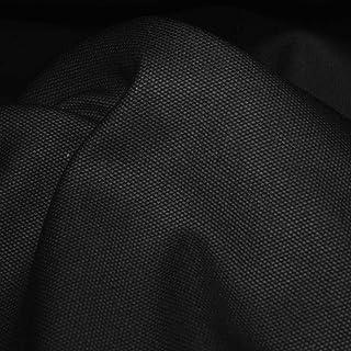 TOLKO 50cm Schwerer Canvas-Stoff | Robuster Polsterstoff/Bezugsstoff Baumwoll-Segeltuch zum Polstern und Beziehen | 1,5mm dick | Reißfest Abriebfest | Baumwollstoffe Meterware 150cm breit Schwarz