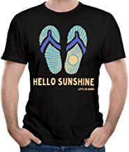 Hello Sunshine Life is Good Men's Short Sleeve tee Shirts Summer tee