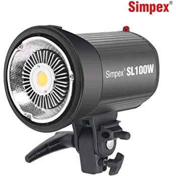 Simpex SL-100 100W 5600K White Version LCD Panel LED Video Light Continuous Output Elinchrom Mount Studio Light
