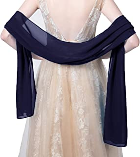 Chiffon Shawls and Wraps For Evening Dress Wedding Stole Scarves for women