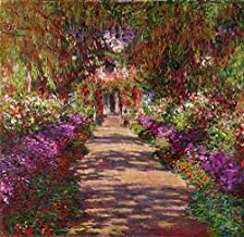 Imagekind Wall Art Print Entitled Pathway in Monet's Garden at Giverny, 1902, Monet by The Fine Art Masters   8 x 8