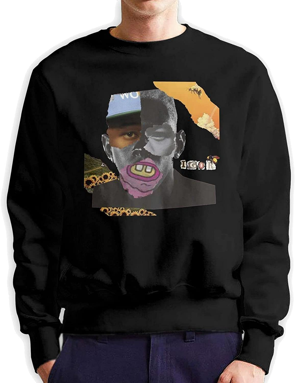 Tyler The Creator Men'S Long Sleeve Printed Sweatshirt Cotton Black