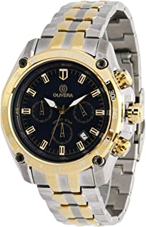 Watch by Olivera For Men, Chronograph, Stainless steel - OGS714