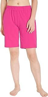 Women's Knit Shorts Jersey Bermuda Shorts with Pockets