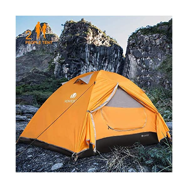 V VONTOX Camping Tent, Dome 2 Person