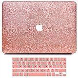 BELK Funda Compatible con 2019 2018 2017 2016 MacBook Pro 15 Pulgadas con Touch Bar A1990 A1707, Delgado Plástico Dura Carcasa & Cubierta de Teclado & Protector de Pantalla, Transparente