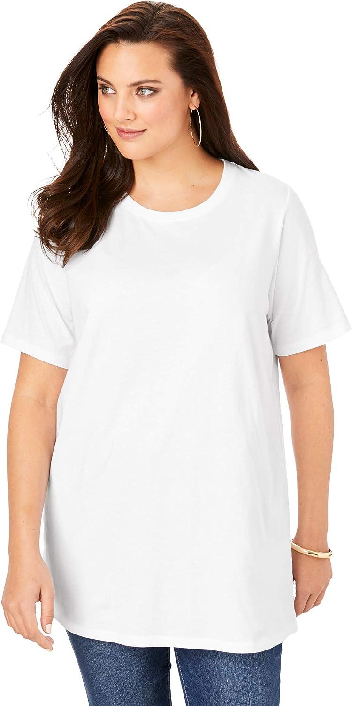 Roamans Women's Plus Size Crewneck Ultimate Tee Shirt
