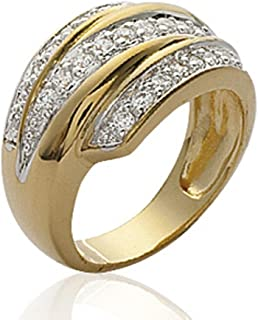 Imma Gold Bague Femme 18 carats Plaqu/é Or 750//000 ISADY