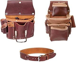 Occidental Leather 5062 4 Pocket Pro Fastener Bag Bundle w/ 5070 Pro Drywall Pouch and X-Large 5035 Tool Belt (3 Pieces)