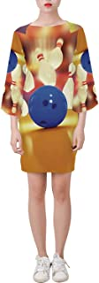 Ancient Decor Classical Bell Sleeve Dress,Sci Fi,for Outdoor