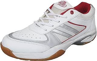 Hitmax Men's Sports Spacer Badminton Shoes (White)