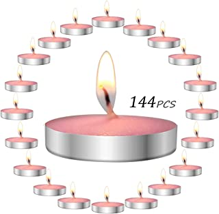 YIH Highly Scented Luxury Tealight Candles Gift Set - 144 pcs - Tealights with 1 Fragrances - Rose