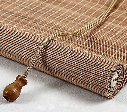 LLPEIJIE026 Natürliche Bambus-Rollo Raffrollo,Bambusrollo Holzjalousien,Sichtschutz Rollo,für Fenster,Türen,Raumhohe Fenster,Restaurant,Korridor,Anpassbare Jalousie (50x160cm/20x63in)