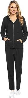Women's Velour Sweatsuit Set Zip up Hoodie and Pants Sport Suits Tracksuits