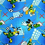 MAGAM-Stoffe Mickey Mouse Fussball Jersey Stoff Oeko-Tex