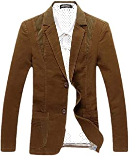 FSSE Men's Casual Slim Fit Business Cotton Dress Blazer Jacket Sport Coat