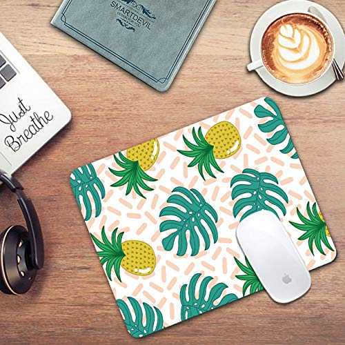 Pineapple Mouse Pad, Gaming Mousepad Custom Tropical Palm Leaves Rectangle Mousepad for Laptop Computer Mouse Mat Pad with Laptop Sticker Photo #6