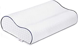 Power of Nature Memory Foam Pillow, Orthopedic Sleeping Pillow Contour Cervical Bed Pillow for Neck Pain, Back Stomach Sid...