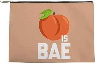 CafePress Emoji Peach Is Bae Makeup Pouch