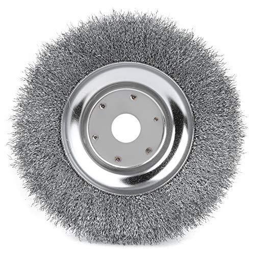 Cabezal de corte de alambre, rueda de alambre de acero de 8 pulgadas, rueda de acero para deshierbar, máquina de cortadora de césped para césped y jardín