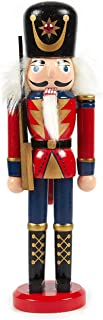 Juvale Christmas Nutcracker Doll - Standing Wooden Christmas Decoration, Festive Ornament for Interior Display, Red - 2.6 x 9 x 1.5 Inches