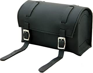 Genuine Leather Bicycle Handlebar Bag Black Real Grain Saddle seatpost Pouch