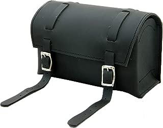 Herte Genuine Leather Bicycle Handlebar Bag Black Real Grain Saddle seatpost Pouch