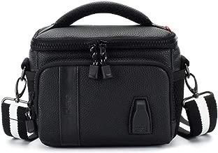 MCHENG Shock Resistant Camera Bag with Convenient USB Charging Port Crossbody Digital Camera Case for Canon EOS 77D / Nikon D5600 COOLPIX B700 / Panasonic LUMIX G9 / OLYMPUS OM-D E-M1 Mark II, Black