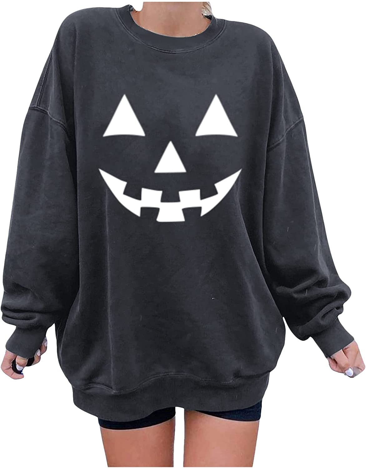 Pandaie Pumpkin Halloween Shirts All items in the store for Max 87% OFF Funny Graphic Casual Women