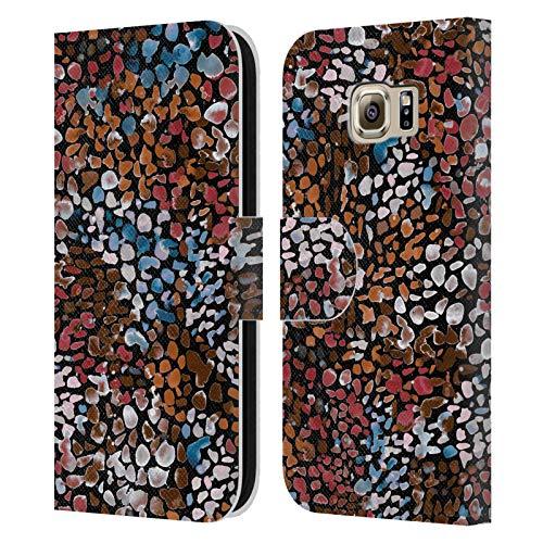 Head Case Designs Licenciado Oficialmente Ninola Acuarela moteada Resumen 2 Carcasa de Cuero Tipo Libro Compatible con Samsung Galaxy S6