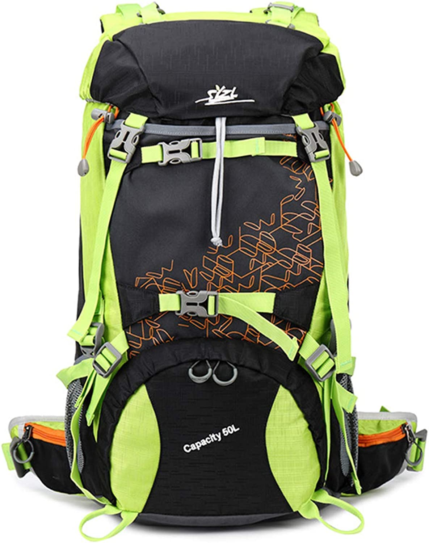 LYARA Sport Mnner und Frauen im Freien reisen Camping Tasche groe Kapazitt 50L wasserdicht verschleifesten Bergsteigenbeutel Unterstützung stark