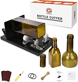 Bottle Cutter, Genround [2021 Upgrade 2.1] Glass Bottle Cutter Tool, Round/Square/Oval Glass Bottle Scoring Machine from N...
