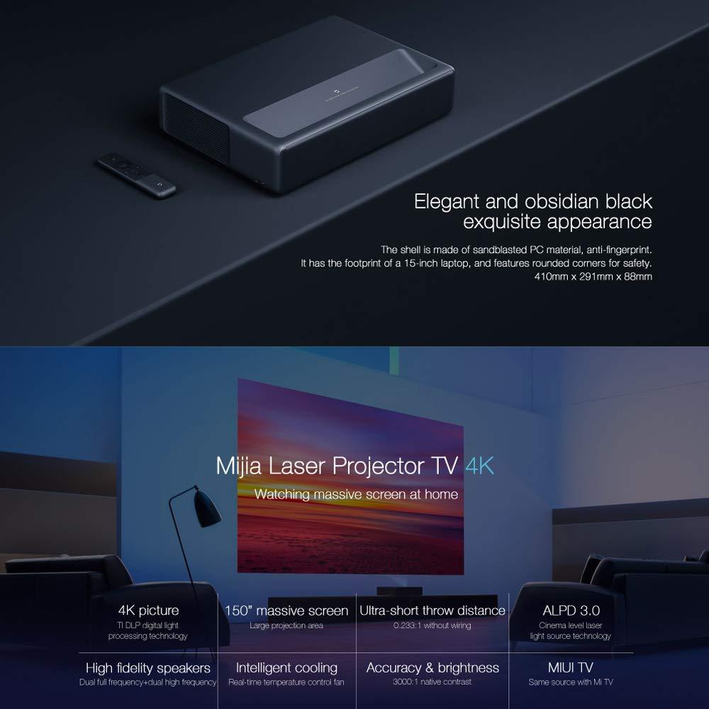 Xiaomi 4K Projector, MJJGTYDS01FM Ultra Short Focus ALPD 3.0 Laser Projector TV Android Smart 3D Home Cinema Projector: Amazon.es: Electrónica