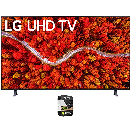 LG 75UP8070PUA 75 Inch Series 4K Smart UHD TV 2021 Bundle with Premium 2 Year Extended Protection Plan