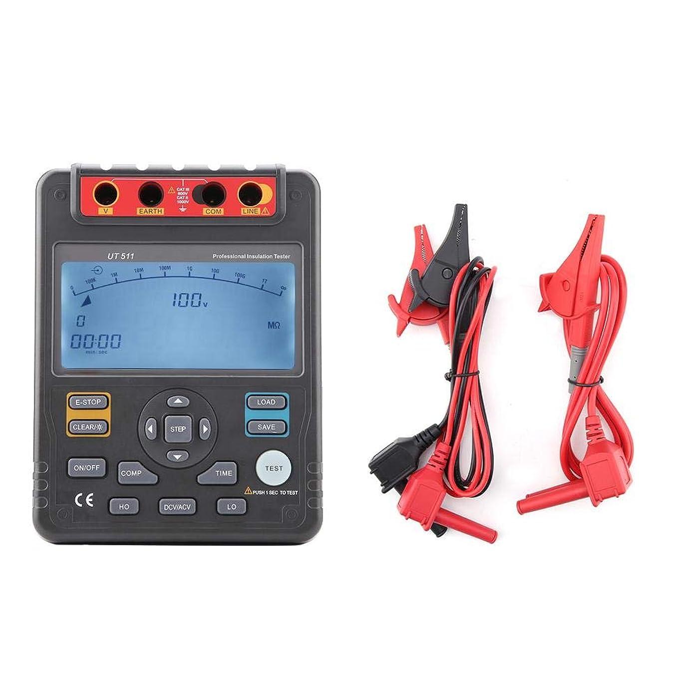 覗くインレイ誠実UT511自動範囲のデジタル絶縁抵抗のテスターMegohmmeterの電圧計