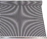 Schwarz Weiß Gestreift 100% Baumwolle Hochwertiger Stoff