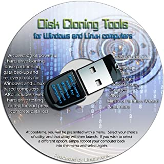 Disk Drive Cloning Tools on an 8GB USB Drive - Complete Hard Drive Cloning and Backup Tools
