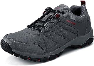 Shoes 男性用 アスレチックスニーカー カジュアル 厚い底 滑り止め アウトドア ハイキング スポーツシューズ 大サイズ Comfortable (Color : グレー, サイズ : 28 CM)