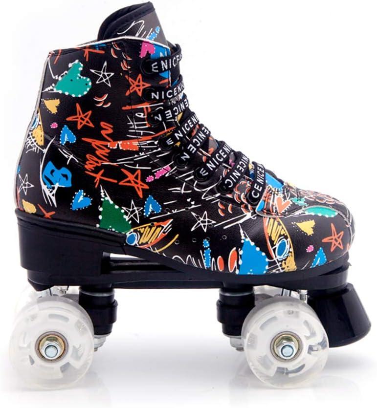 Artistic Rythmic Skating MSMAX Roller Skates for Women and Men Speed Quad Skates for Rink