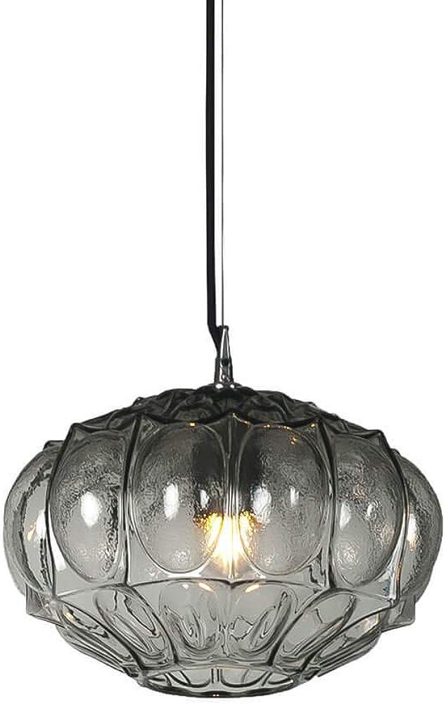 Karman ginger, lampada a sospensione Ø30 cm, in vetro color fumé SE1161F